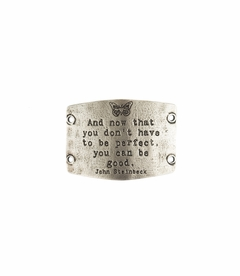 NEW! - Don't Have To Be Perfect - Large Silver Sentiment - Lenny & Eva