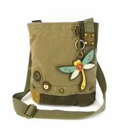 NEW! - Dragonfly Patch Crossbody with Key Fob - Olive