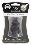 CLOSEOUT - Evening Bonfire WoodWick Car Vent Freshener | Discontinued & Seasonal WoodWick Items!