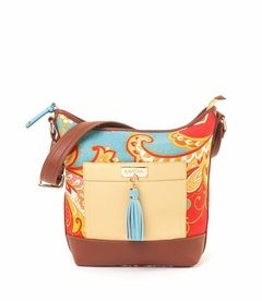 Fiddler's Cove Color Block Wallaby Bag (Special Order)