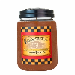 Frosted Pecan Pie 26 oz. Large Jar Candleberry Candle | Large Jar Candles by Candleberry