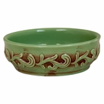 Antique Green Scallop Melter Cup | Wax Melters by Swan Creek Candles