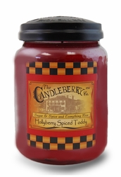 *Hollyberry Spiced Toddy 26 oz. Large Jar Candleberry Candle | Large Jar Candles by Candleberry