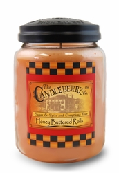 Honey Buttered Rolls 26 oz. Large Jar Candleberry Candle | Large Jar Candles by Candleberry