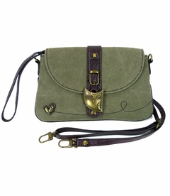 TEMPORARILY OUT OF STOCK - NEW! - Hoohoo Owl Chala Mini XBody Bag (Olive)