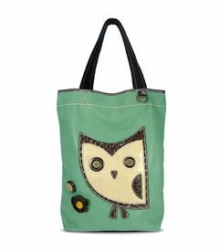 Hoohoo Owl Everyday Tote - Leather (Teal)