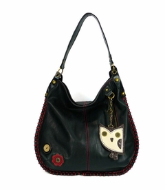 Hoohoo Owl Hobo Handbag - Black