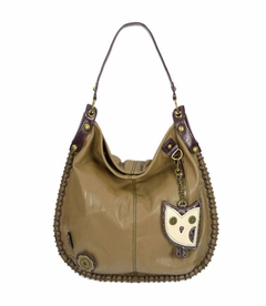 CLOSEOUT- Hoohoo Owl Hobo Handbag - Brown