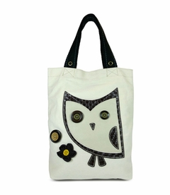 Hoohoo Owl Simple Tote (White)