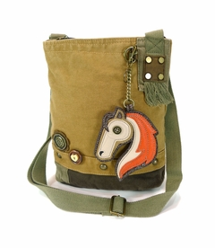 NEW! - Horse Patch Crossbody with Key Fob - Brown