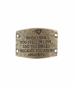 NEW! - I Fell In Love - Large Brass Sentiment - Lenny & Eva