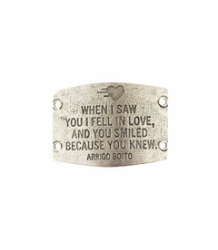 NEW! - I Fell In Love - Large Silver Sentiment - Lenny & Eva