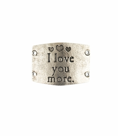 NEW! - I Love You More - Large Silver Sentiment - Lenny & Eva