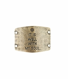 It Is Well With My Soul Large Brass Sentiment by Lenny & Eva