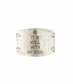 It Is Well With My Soul Large Silver Sentiment by Lenny & Eva