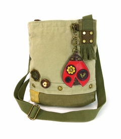 NEW! - Ladybug Patch Crossbody with Coin Purse - Sand