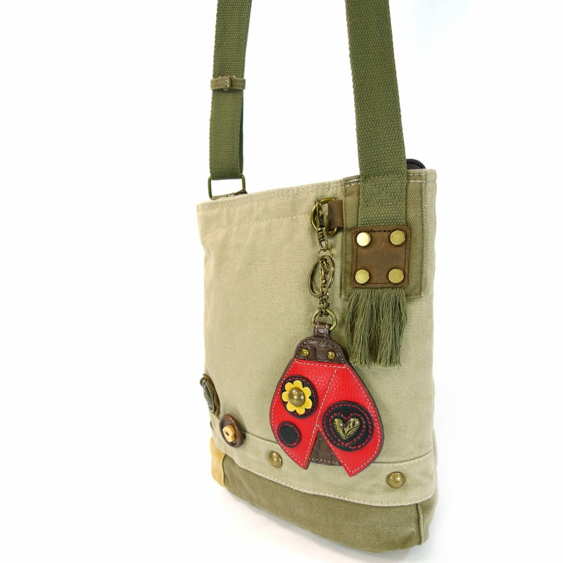 Ladybug Patch Crossbody with Coin Purse