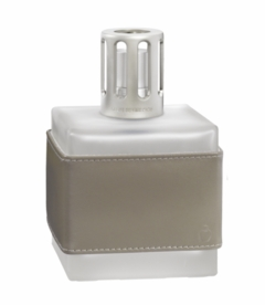 NEW! - Leather Cube Grey Fragrance Lamp by Lampe Berger