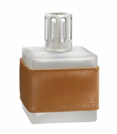 NEW! - Leather Cube Havana Fragrance Lamp by Lampe Berger