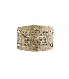 NEW! - Lights Up The Whole Sky - Large Brass Sentiment - Lenny & Eva