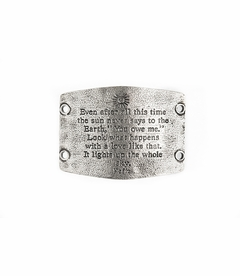 NEW! - Lights Up The Whole Sky - Large Silver Sentiment - Lenny & Eva