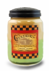 Lime & Coconut 26 oz. Large Jar Candleberry Candle | Candleberry Candle Closeouts