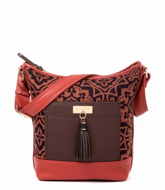 CLOSEOUT - Maggioni Color Block Wallaby Bag - Spartina 449