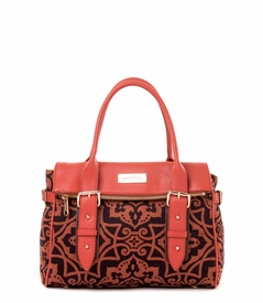 CLOSEOUT - Maggioni Fold-Over Satchel - Spartina 449