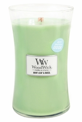 Mint Leaf & Basil WoodWick ODOR NEUTRALIZING Candle 22 oz. | Jar Candles - Woodwick Fall & Winter 2015