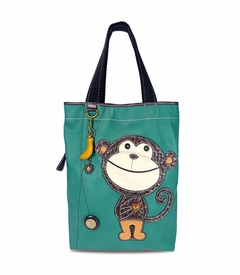 Monkey Everyday Tote - Leather - Dark Turquoise