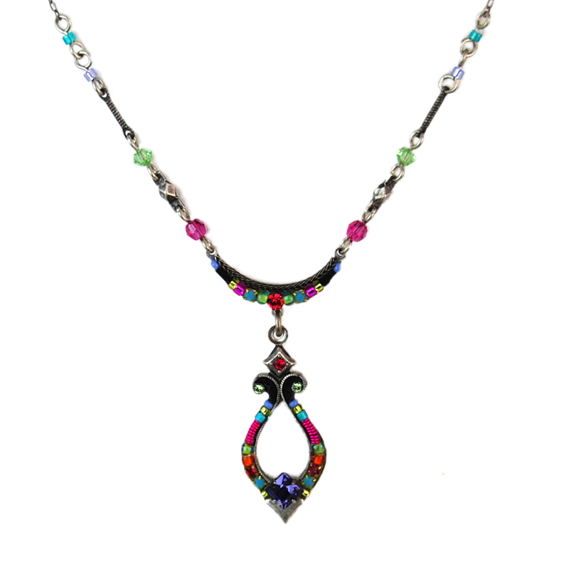 multi color harp necklace 8495 firefly jewelry