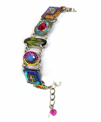 Multi-Color La Dolce Vita Crystal Bracelet 3036 - Firefly Jewelry