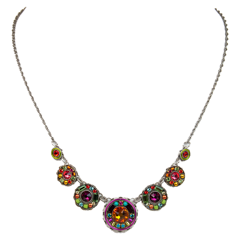 multi color vintage necklace 8690 firefly jewelry