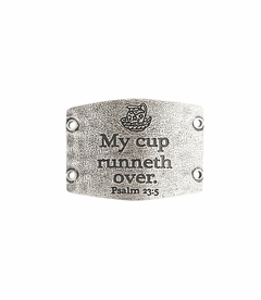 NEW! - My Cup Runneth Over - Large Silver Sentiment - Lenny & Eva