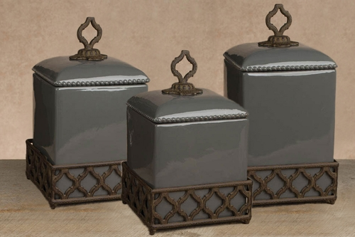 Ogee-G Gray Canister Set - GG Collection*