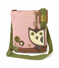 NEW! - Owl Patch Crossbody with Coin Purse - Pink