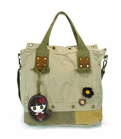 Patch Square Tote (Smiley Girl)