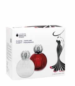 NEW! - Plissee Red Fragrance Lamp Gift Set by Lampe Berger