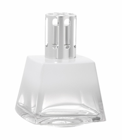 Polygone White Fragrance Lamp by Lampe Berger