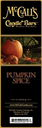 Pumpkin Spice McCall's Candle Bar | Candle Bars by McCall's
