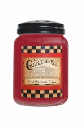 Red Sherbet & Tulips 26 oz. Large Jar Candleberry Candle | Candleberry Candle Closeouts