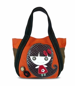Smiley Girl Carryall Tote (Orange)