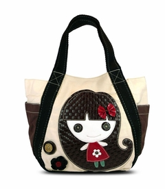 Smiley Girl Carryall Tote (White)