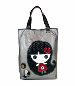 Smiley Girl Everyday Tote - Leather (Silver)