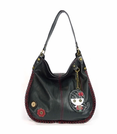CLOSEOUT - Smiley Girl Hobo Handbag - Black
