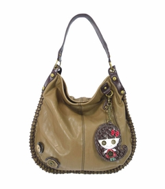 CLOSEOUT - Smiley Girl Hobo Handbag - Brown