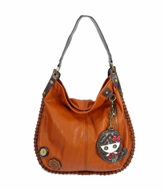 Smiley Girl Hobo Handbag - Orange