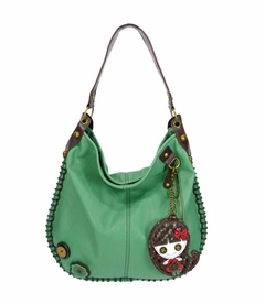 CLOSEOUT - Smiley Girl Hobo Handbag - Teal