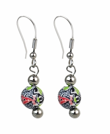 NEW! - Splash of Black & White Classic Earrings - Viva Beads