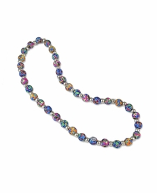 NEW! - Splash of Blue Classic Necklace - Viva Beads
